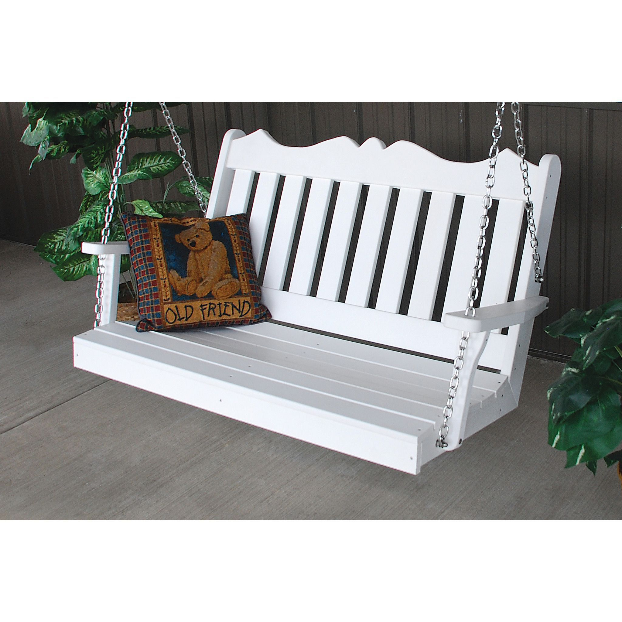 Au0026L Furniture Company Royal English Recycled Plastic 4ft Porch Swing