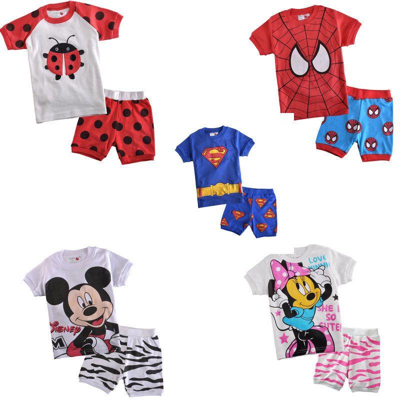 Cheap De Dibujos Animados Pijamas Del Bebe Infantil Chicos Chicas