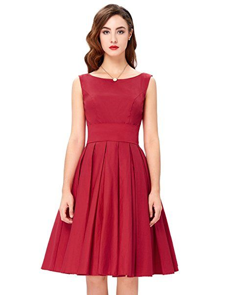 f05ccbc9f44 Belle Poque Womens Audrey Hepburn 50s Dress. Sleeveless Tea Dress for women.
