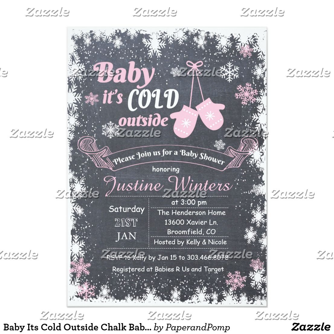 Baby its cold outside chalk baby shower invitation shower invitations baby its cold outside chalk baby shower invitation stopboris Gallery