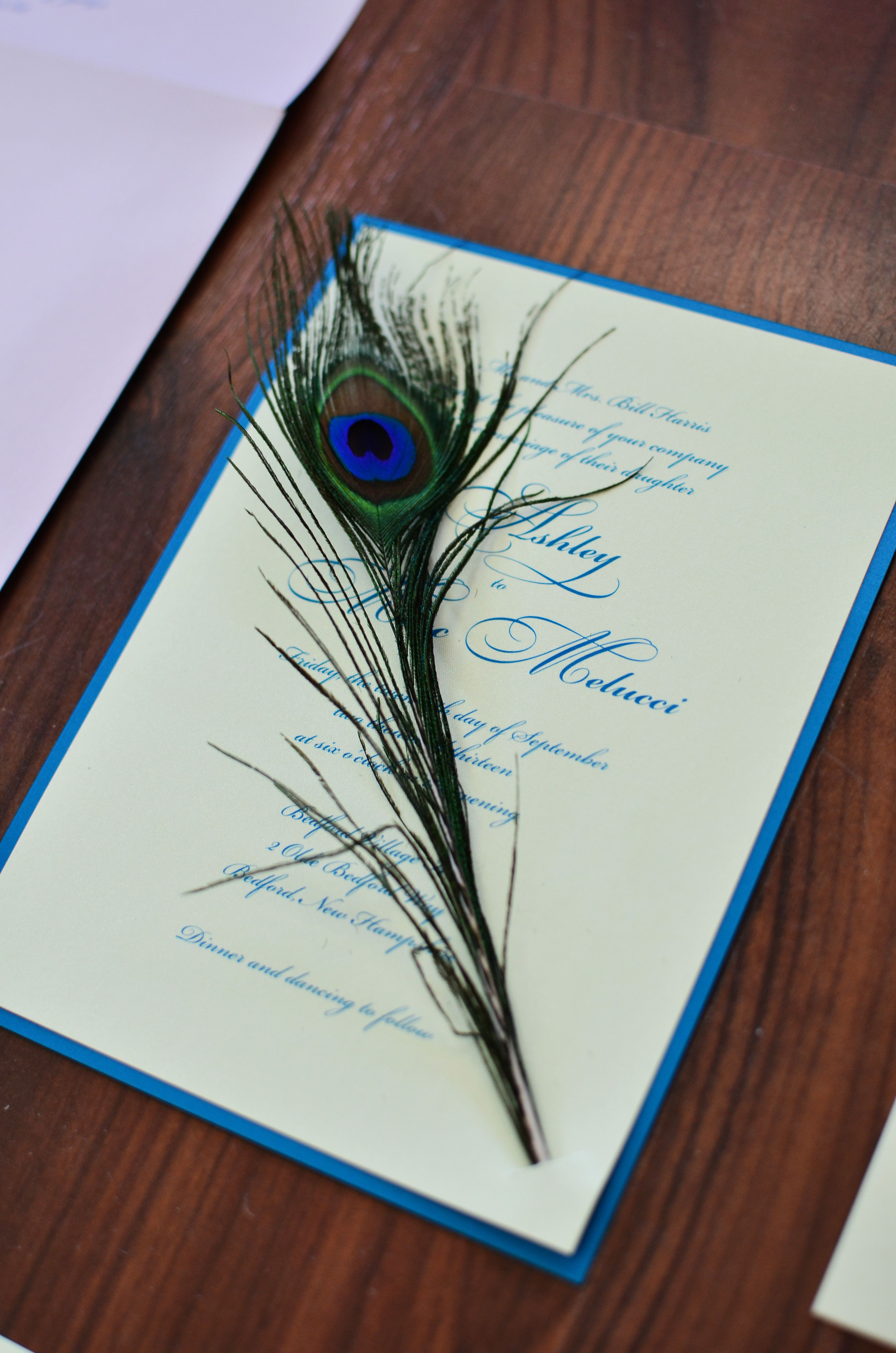 Peacock Wedding Invitation Done By Invited Design Studio In Nh Www