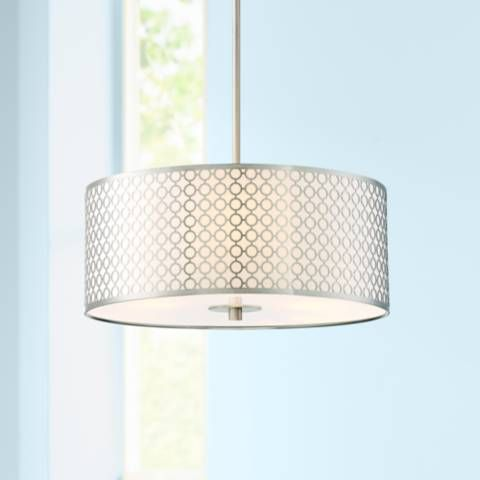 George Kovacs Dots 18 Wide Brushed Nickel Pendant Light 15h95 Lamps Plus Contemporary Light Fixtures Dining Room Light Fixtures Pendant Light George kovacs pendant light