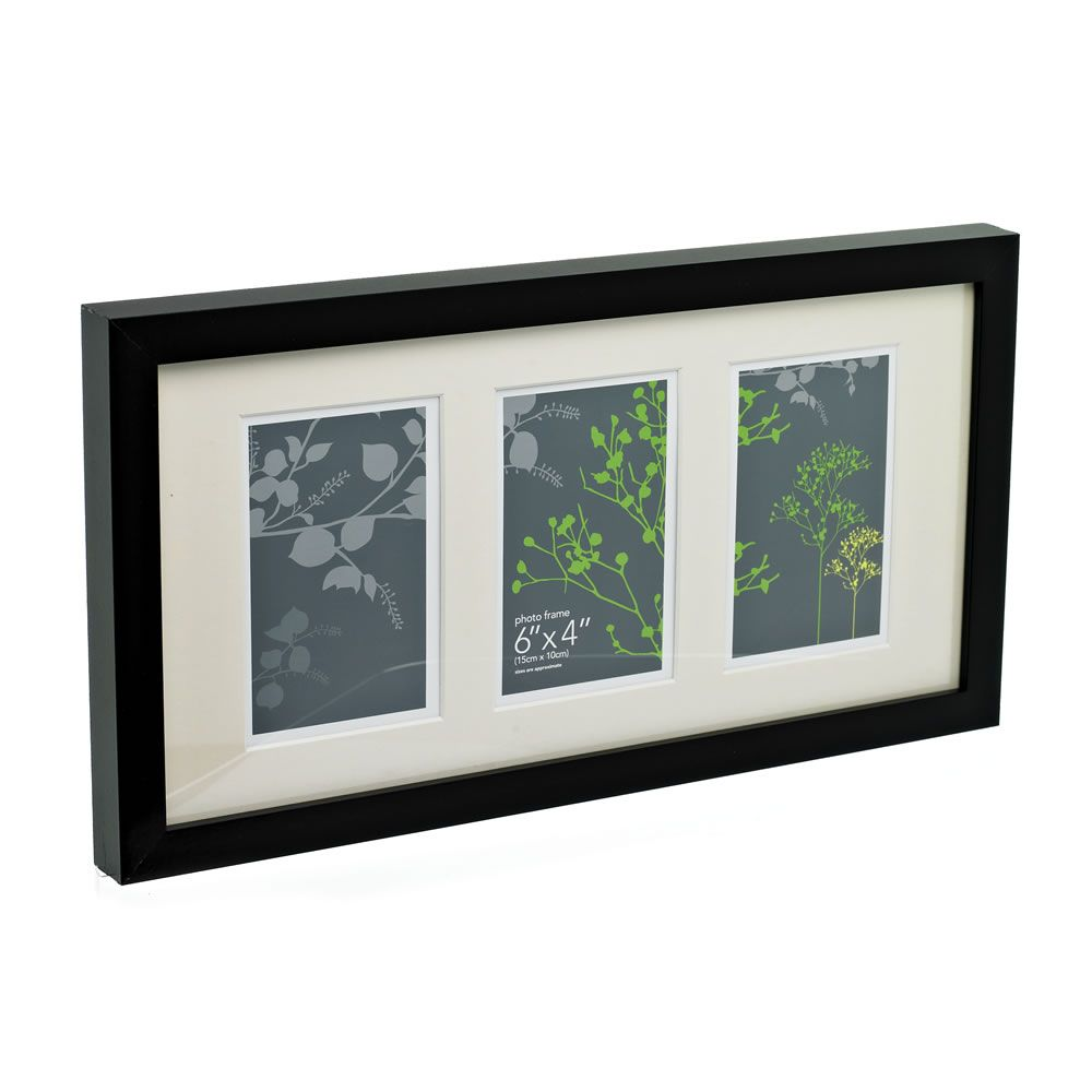 3 Multi Aperture Black Photo Frame 6 x 4 Inch (With images