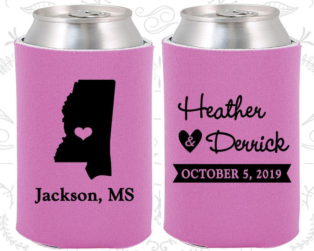 Mississippi Wedding Favors, Coolies, Destination Wedding Gift, State ...