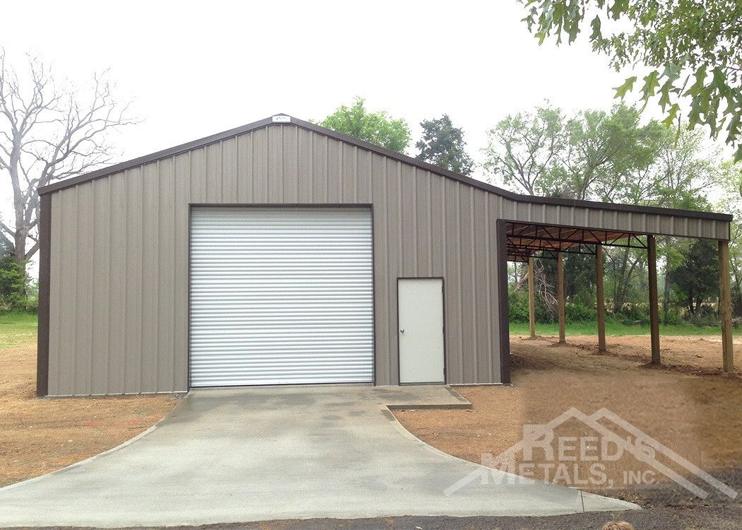 Clay Burnished Slate 30x40x13 Enclosed Pole Barn With 16x40 Roof Only Lean To Building A Pole Barn Metal Pole Barns Pole Barn