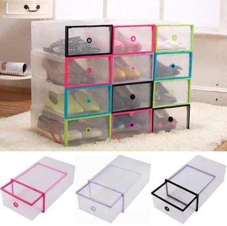 Home Shoe Box Storage Clear Plastic Shoe Boxes Plastic Shoe Boxes