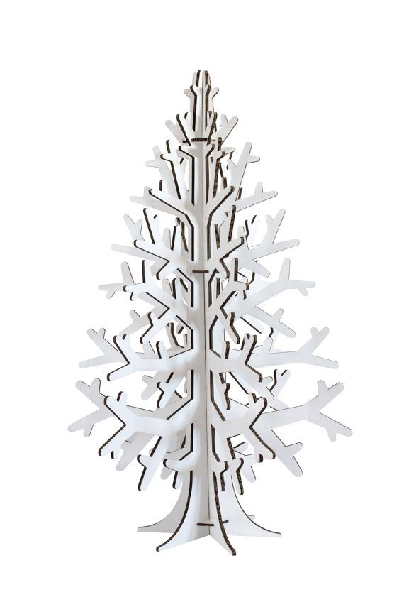 White cardboard christmas tree Door decor Xmas Pinterest