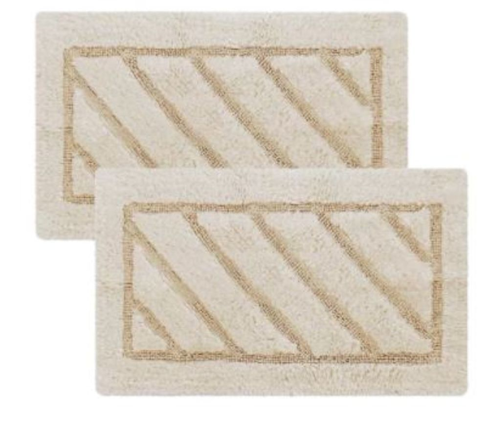 Comfortably Cushion Luxury Beige Soft Cotton Bath Rug 17 x 24 Inches ...