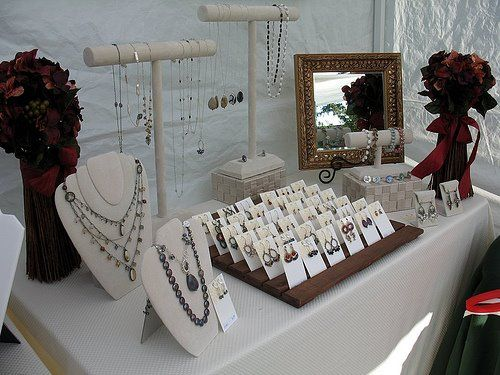 I Had Yesterday Off And All Of Sudden I Felt Very Nervous About My Show Next Week I Bought Some Jewel Jewelry Display Booth Diy Jewelry Display Jewelry Booth