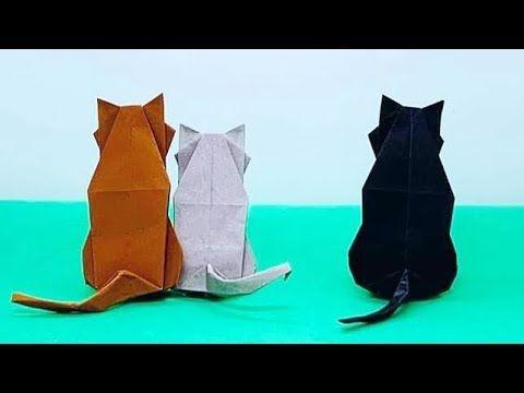 Photo of Sitzende Katze Origami (TUTORIAL) Entworfen von Satoshi Kamiya