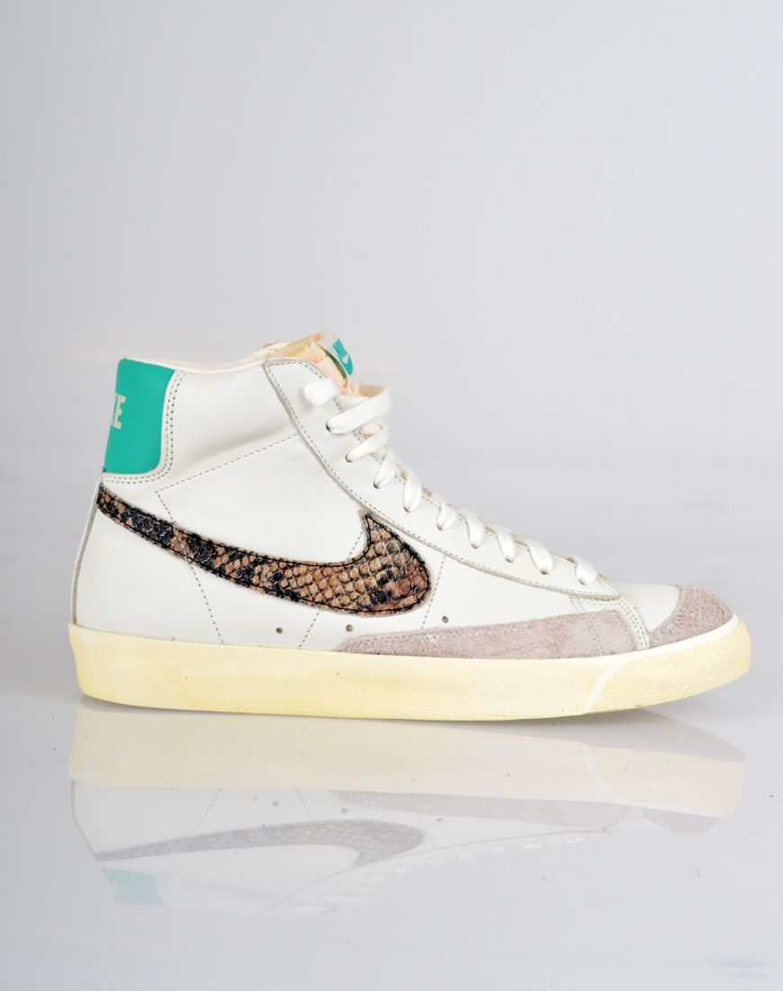 brand new ddf57 49b35 Nike Blazer Mid 77 Limited Edition Leather Trainers - White Snake Green
