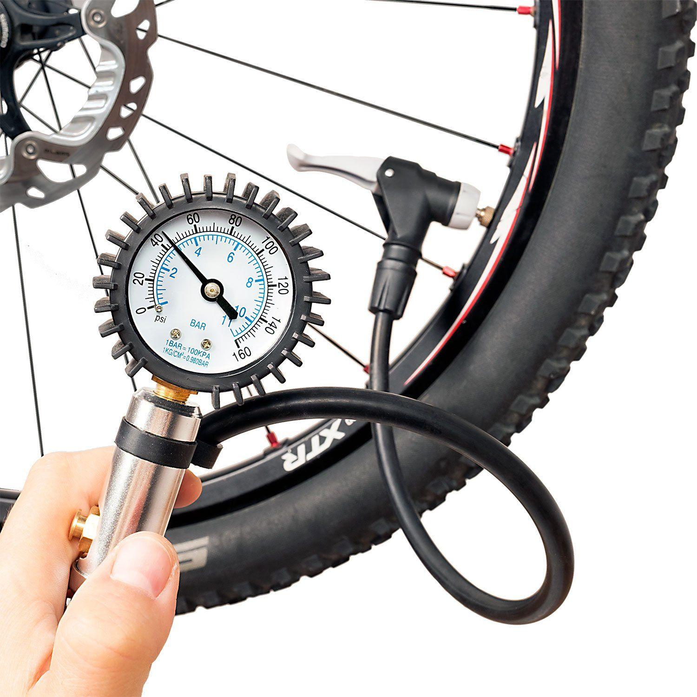 CycloSpirit Bicycle Tire Inflator Gauge Air Compressor