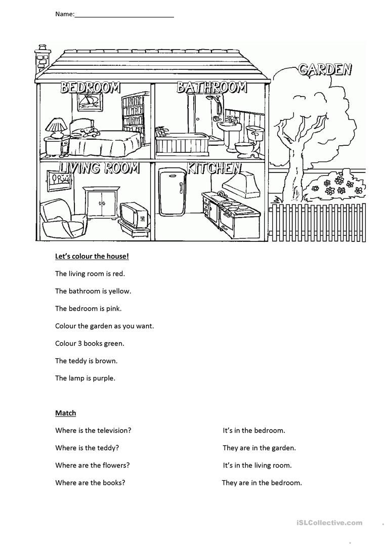 Rooms in the house | English worksheets | Pinterest