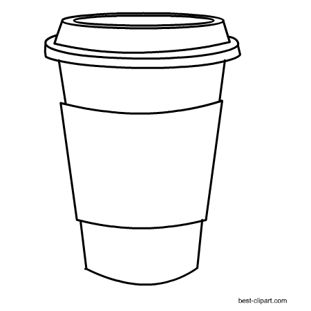 Black And White Coffee Cup Png 450 450 Pixels Coffee Cup Art Coffee Cup Drawing Coffee Doodle