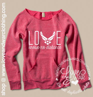 Love knows no distance AIR FORCE slouch sweater Air