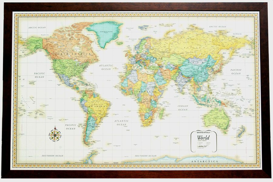 Beautiful framed world map framed maps pinterest framed maps beautiful framed world map gumiabroncs Image collections