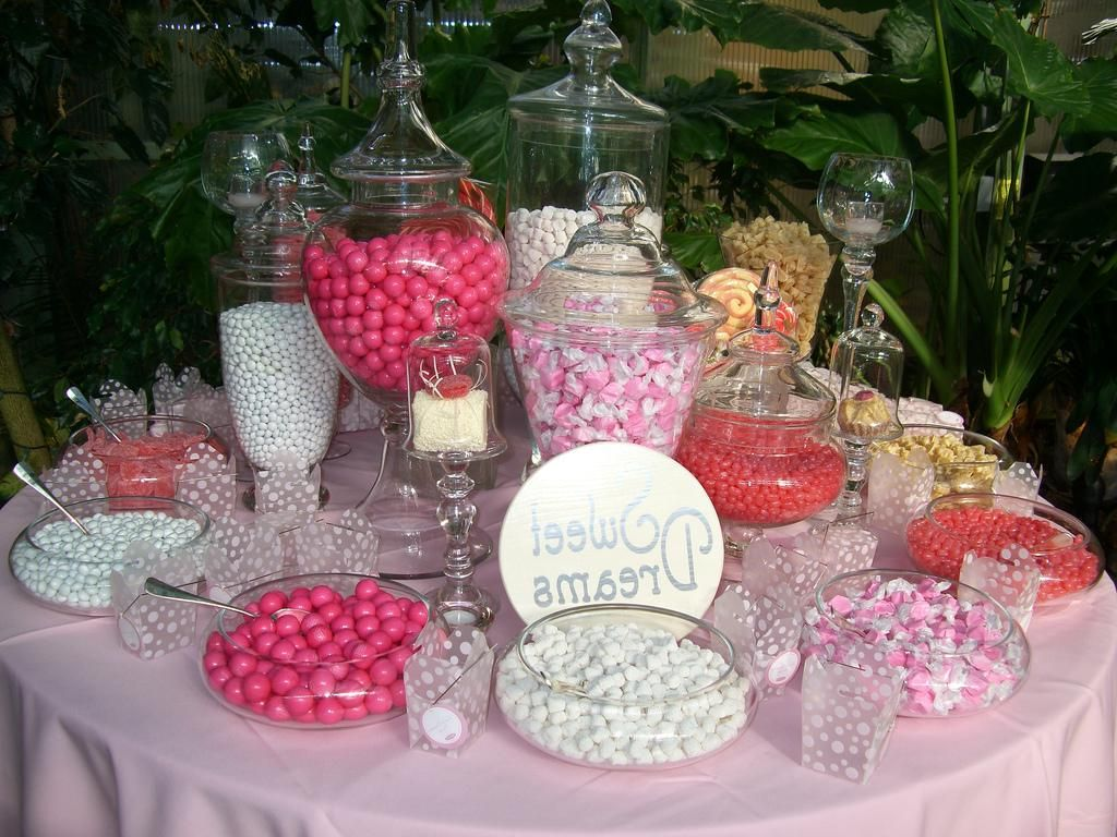 Candy Buffet Ideas For Weddings | Pink Candy Bar For Wedding