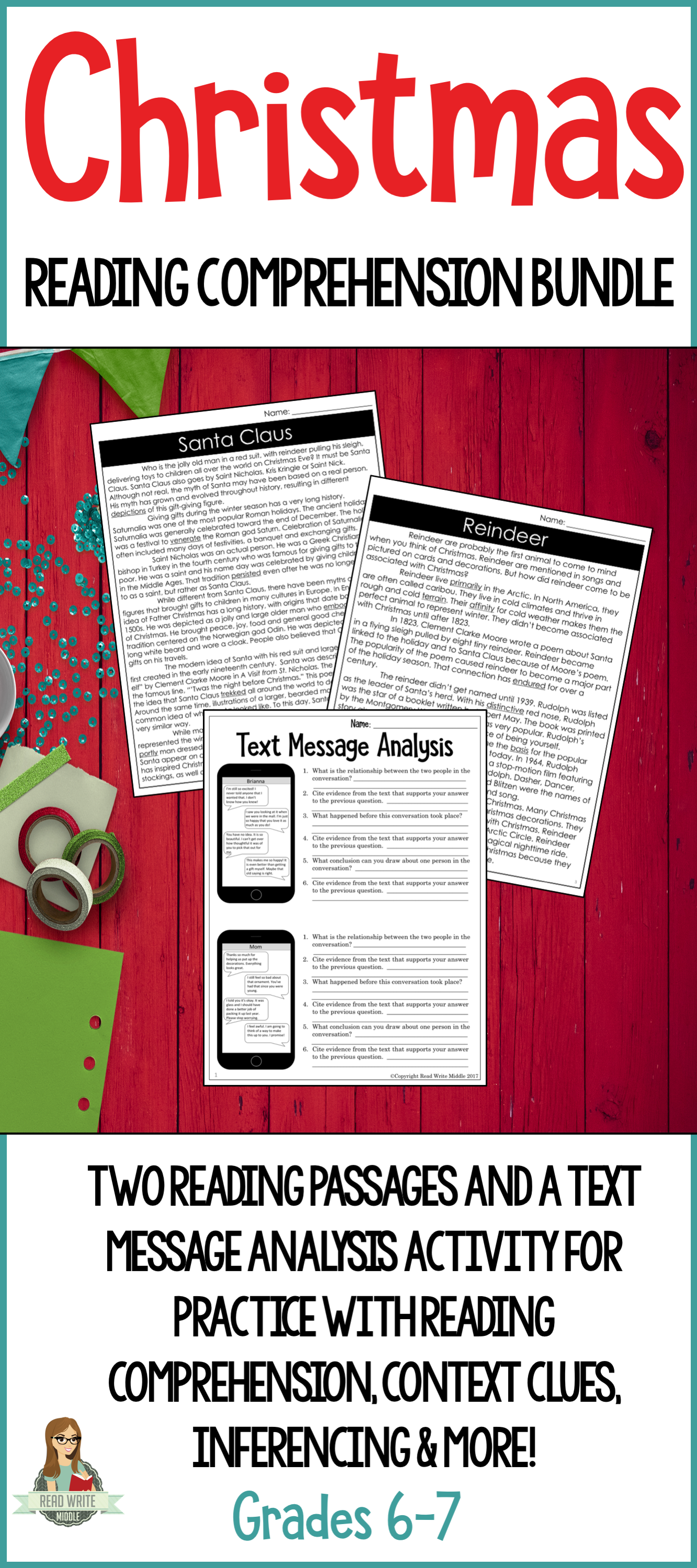 A Christmas Reading Comprehension Bundle That Includes Differentiated Reading Passag Reading Comprehension Passages Reading Comprehension Comprehension Passage [ 2999 x 1333 Pixel ]