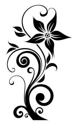 Naklejka Flora 231 Szabloneria Pl Szablony Malarskie I Naklejki Na Sciane Producent Flower Stencil Patterns Flower Stencil Flower Drawing