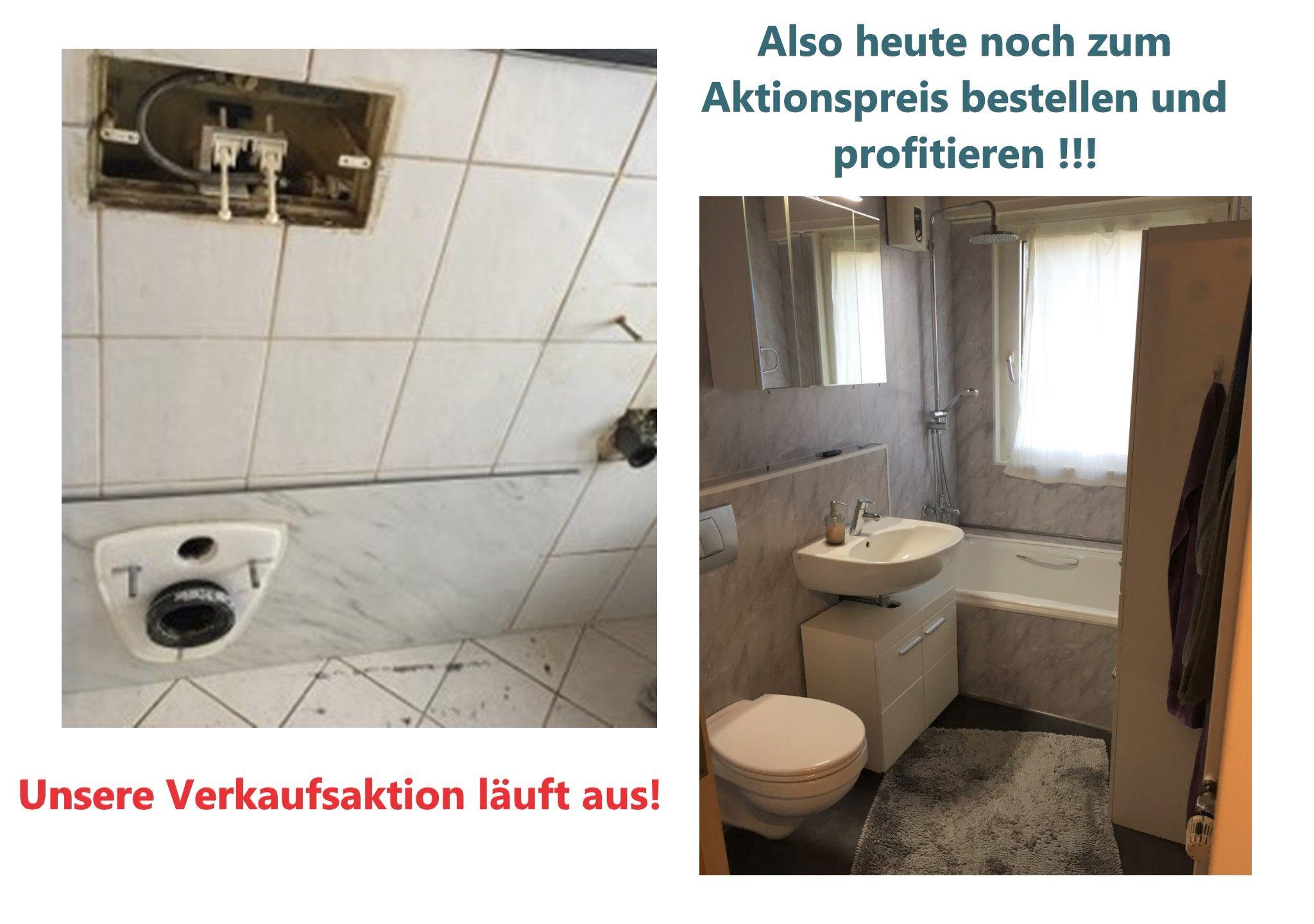 Badmodernisierung In 2 Tagen Ideal Fur Alle Die Keine Ausweichmoglichkeit Haben Weil Toilette Und Waschbecken Schne In 2020 Mit Bildern Moderne Fliesen Wandpaneele Mietwohnungen