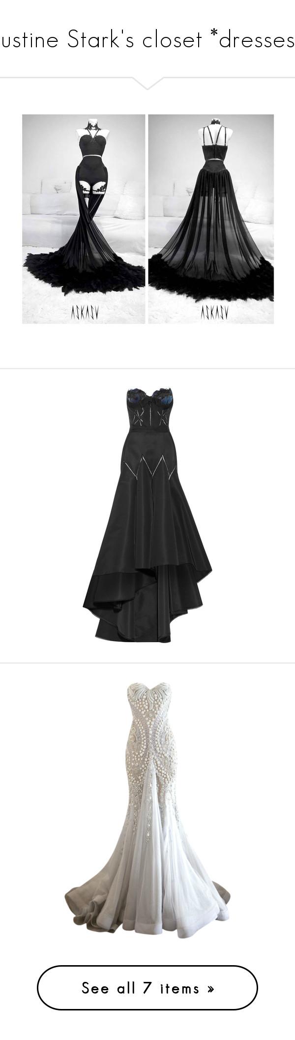 Justine Stark\'s closet *dresses*\