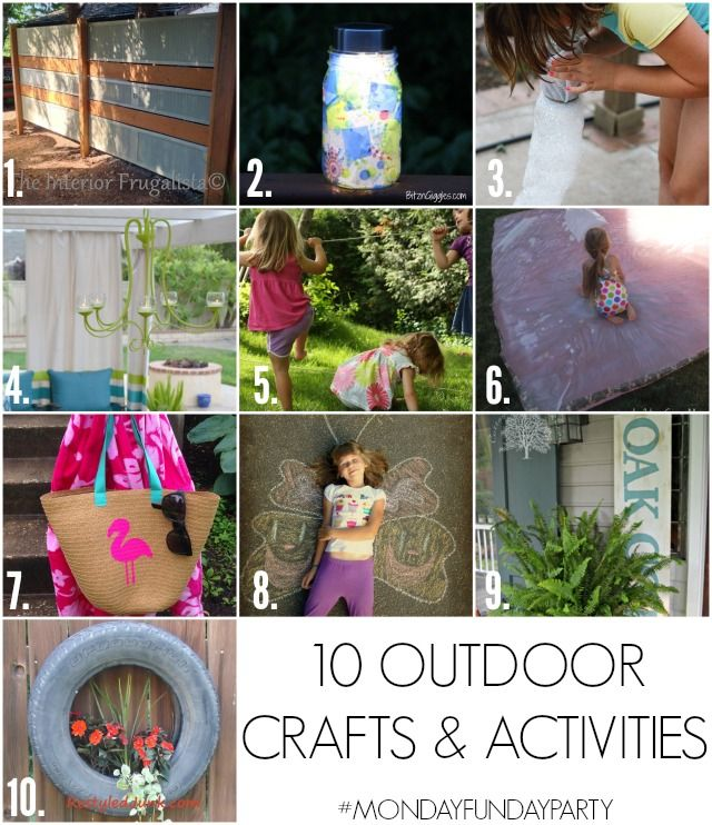 10 Outdoor crafts and activities for the whole family!