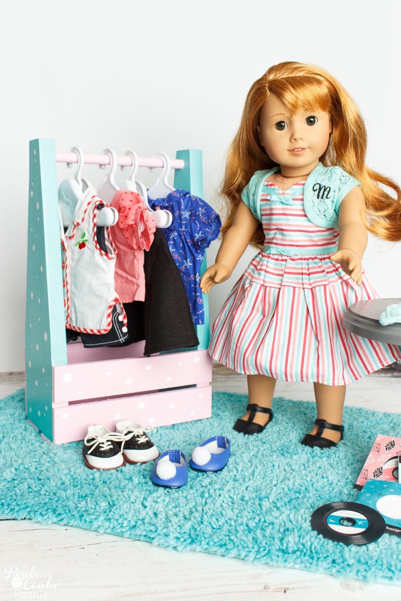 DIY American Girl Idea to Make an adorable Portable Closet   dolls