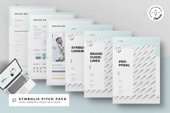 Symbolis Proposal Pitch Pack by Egotype on @creativemarket Ready for - half fold brochure template