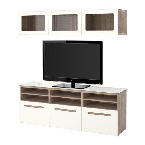 Ikea Vitrinentür bestå tv komb mit vitrinentüren grau las nussbaumnachb marviken
