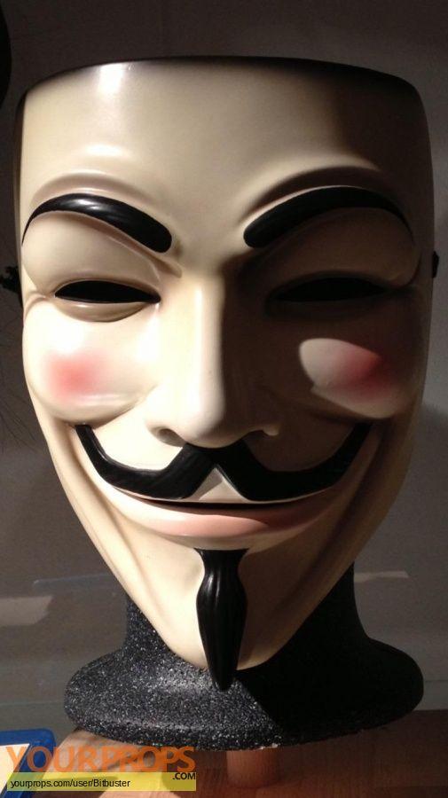 V For Vendetta V S Hero Mask Original Movie Prop V For Vendetta Movie Props Vendetta