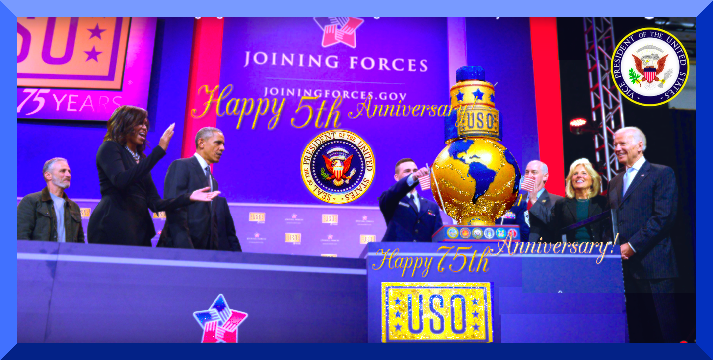 #HappyAnnyversary 5th 2 #JoiningForces &75th 2 #USO! https://goo.gl/YS83CU #PresientObama #FF