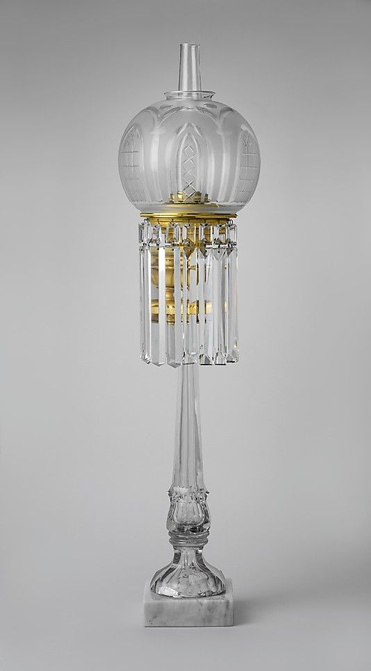 1843-1855 American (Massachusetts) Lamp at the Metropolitan Museum of Art, New York