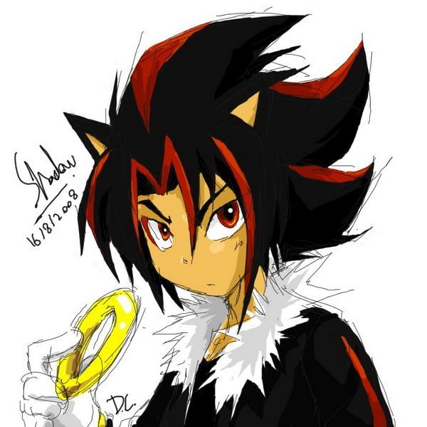 Shadow | Sonic characters as humans | Pinterest | Anime