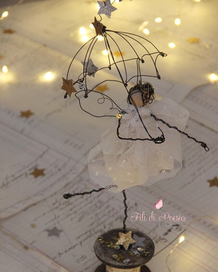 My stars fairy Wire and textile creations