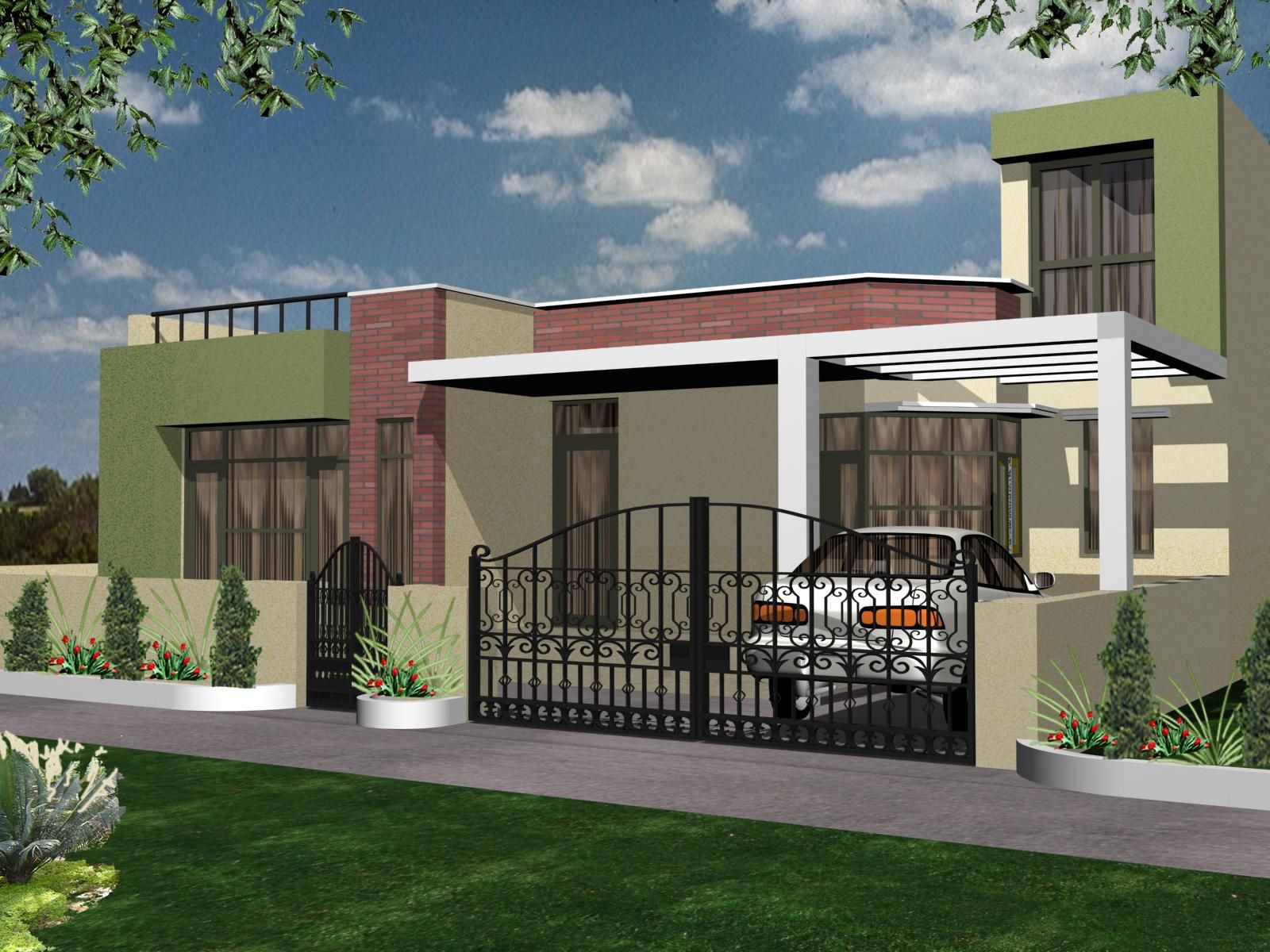 Home Exterior Design India Residence Houses Also Best One Floor Building  Images On Pinterest Indian Homes
