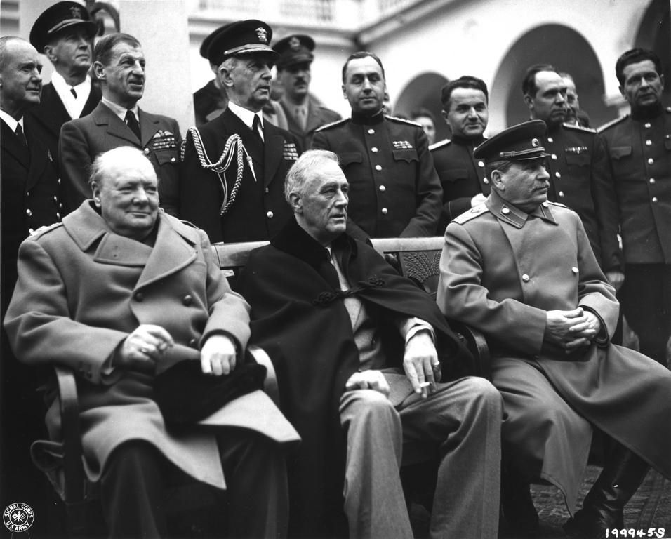 Churchill Roosevelt And Stalin In Yalta 1945 Amazing Photos