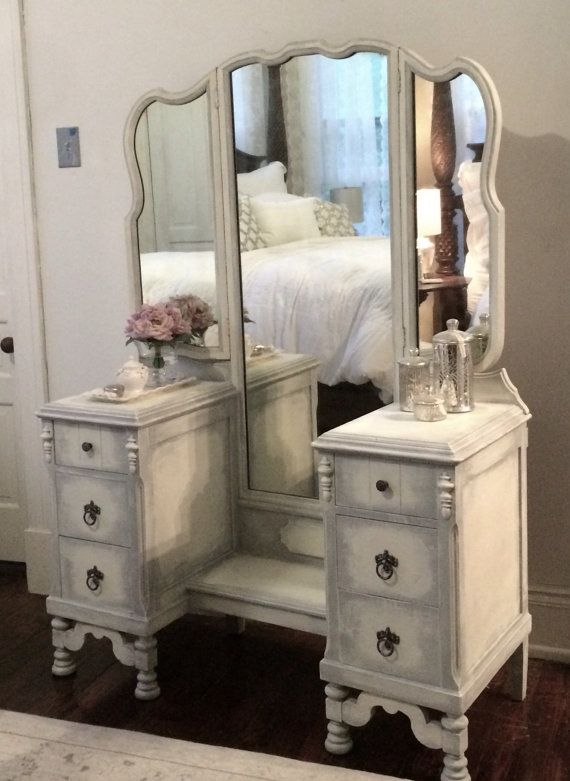 Sold Antique White Vanity Vintage Cottage French