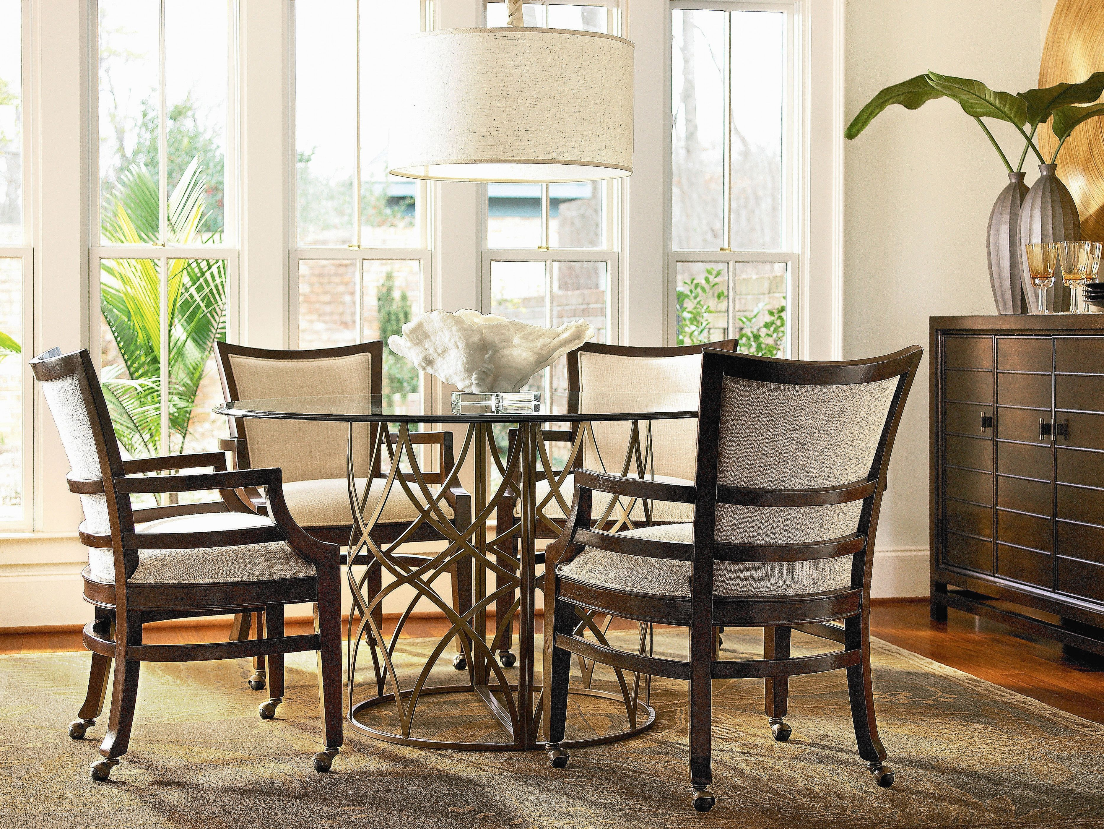 Dining Room Table Chairs Casters Home Decorating Interior Design