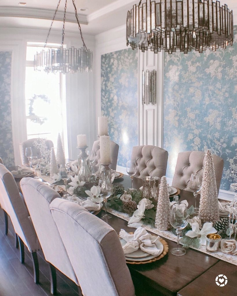 How I Created My Rustic Glam Dining Room With Full Shopping List Dining Room Table Decor Dining Room Chandelier Dining Room Showroom