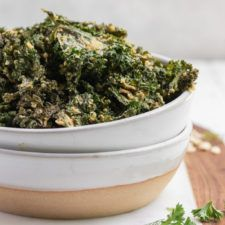 Baked Ranch Kale Chips (Gluten and Oil-Free)   - food -