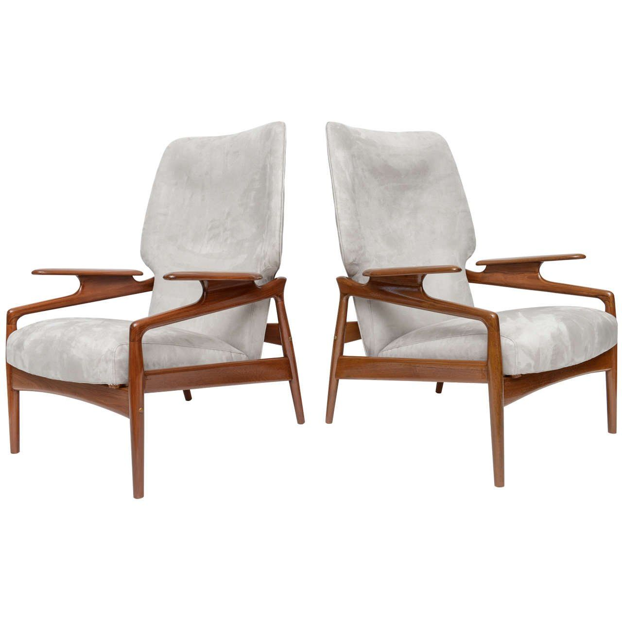 Pair Of Danish Modern Armchairs, Manner Of Finn Juhl