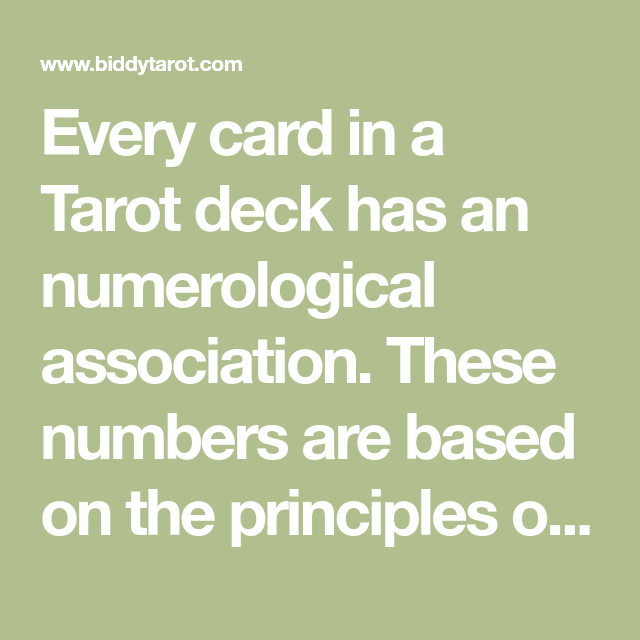 Tarot By Numbers: A Fast And Simple Way To Learn The Cards