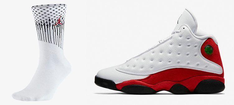 "36c506db706722 Air Jordan 13 ""Chicago"" Socks"