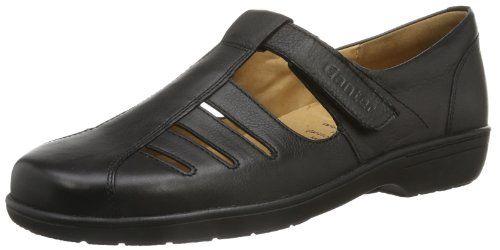 ANKE, Weite G, Damen Slipper, Grau (schwarz 0100), 42.5 EU (8.5 Damen UK) Ganter
