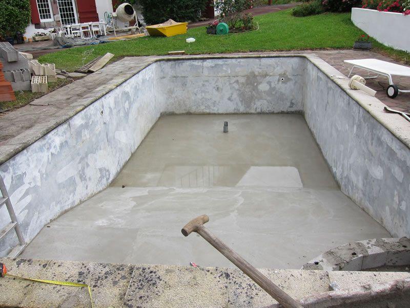 Piscina cemento ideas para el hogar pinterest - Cemento para piscinas ...