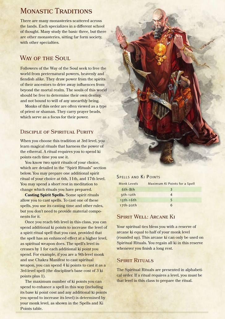 Spirit Monk 5e