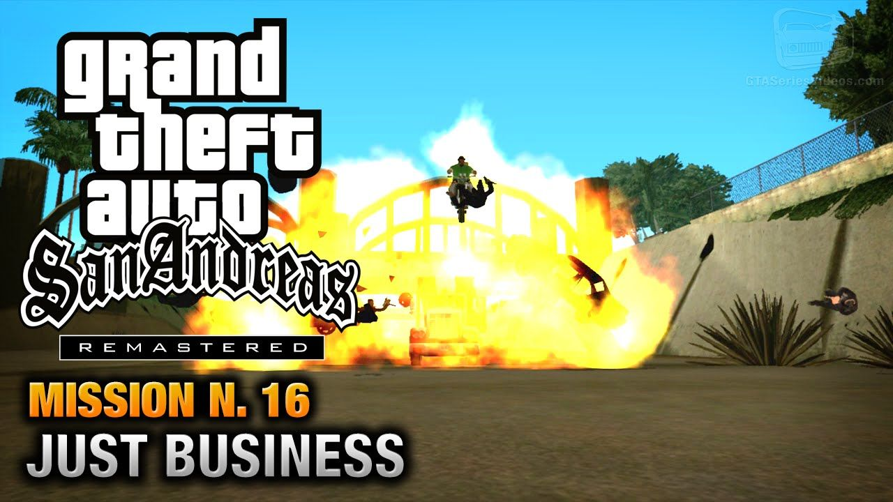 GTA San Andreas Remastered - Mission #16 - Just Business