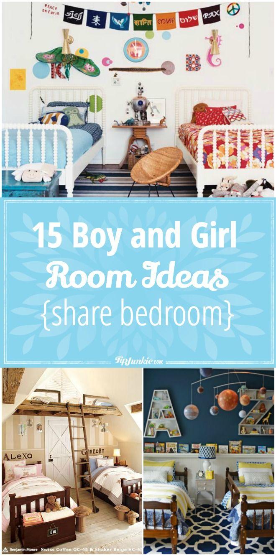 boy and girl room ideas share bedroom via tipjunkie best of