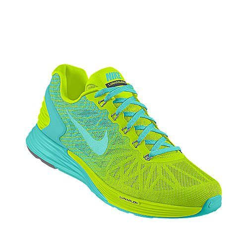 promo code 1d44f 2c397 One Of My Customized Nikes, Blue And Yellow Green Nike LunarGlide 6.