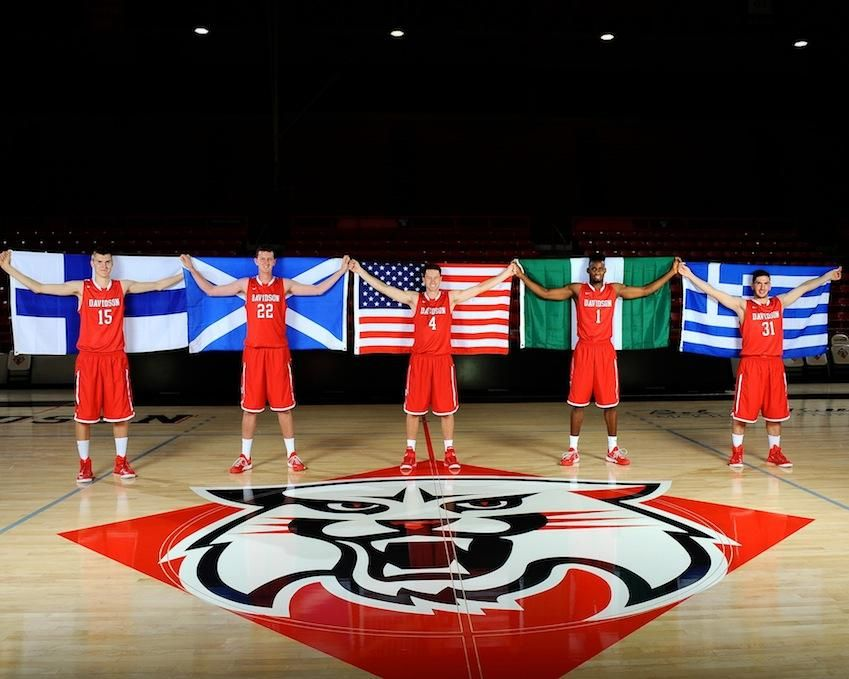 The 2014-15 Davidson MBB Wildcats representing their countries!